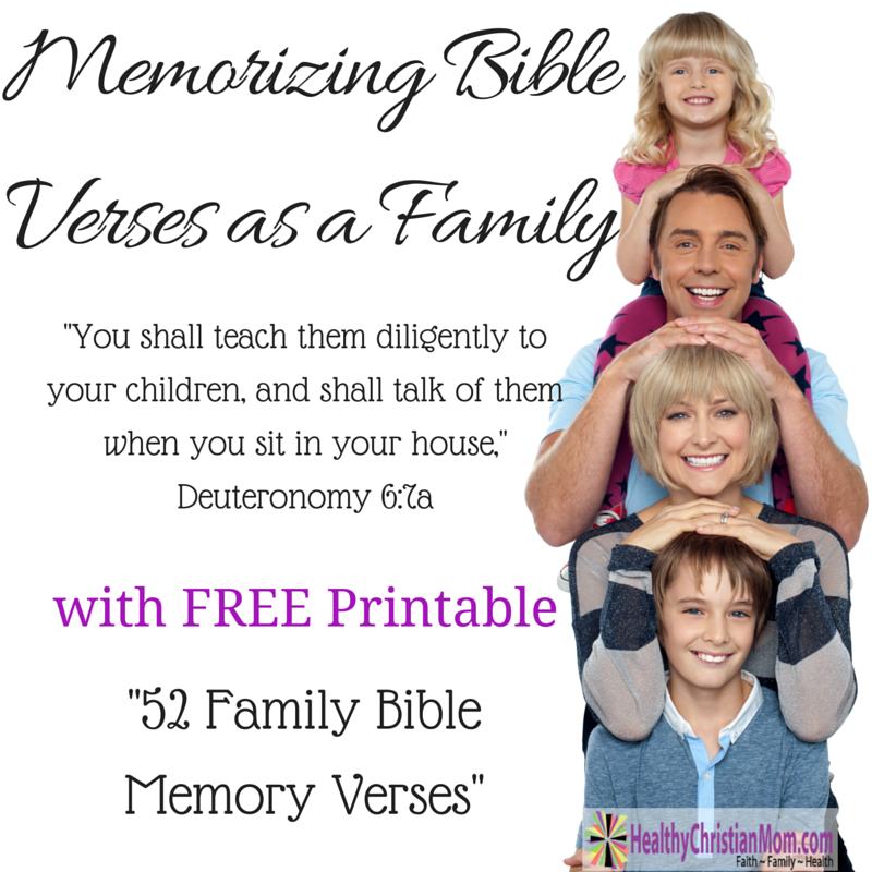 Memorizing Bible Verses as a Family – with Free Printable